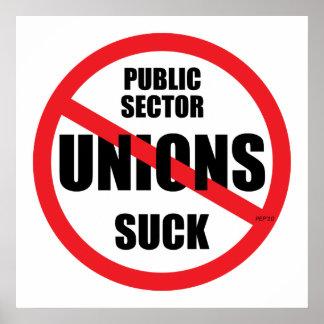 Las uniones del sector público chupan póster