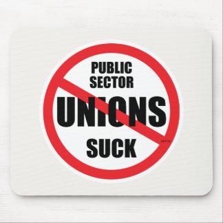 Las uniones del sector público chupan tapetes de ratón