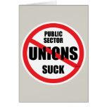 Las uniones del sector público chupan felicitacion
