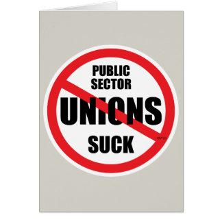 Las uniones del sector público chupan tarjeta de felicitación