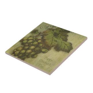 Las uvas del valor para la madre azulejo cuadrado pequeño