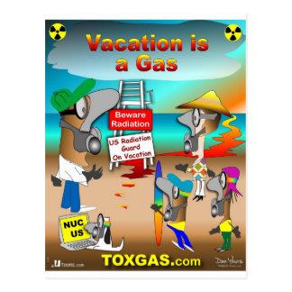 Las vacaciones son un gas tarjetas postales