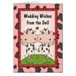 Las vacas cantan música popular del boda tarjeta de felicitación