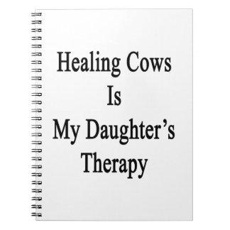 Las vacas curativas son la terapia de mi hija libro de apuntes