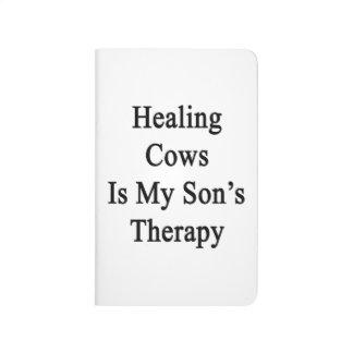 Las vacas curativas son la terapia de mi hijo cuadernos grapados