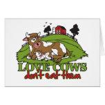 Las vacas del amor, no los comen felicitación
