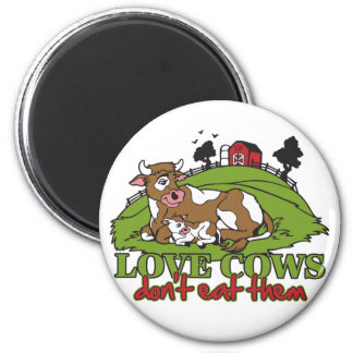 Las vacas del amor, no los comen imán para frigorífico