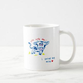 Las vacas me aman… Bebo la leche de soja Taza De Café