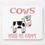 Las vacas me hacen feliz alfombrilla de ratones