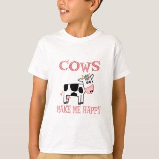 Las vacas me hacen feliz playera