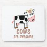 Las vacas son impresionantes tapetes de raton
