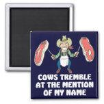Las vacas tiemblan imán para frigorífico