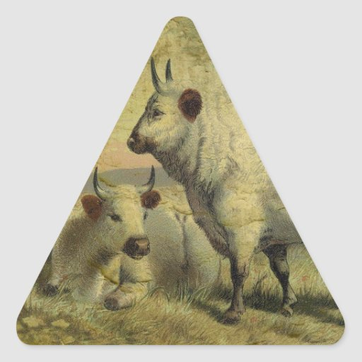 Las vacas volvieron a casa pegatina triangular