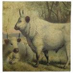 Las vacas volvieron a casa servilletas imprimidas