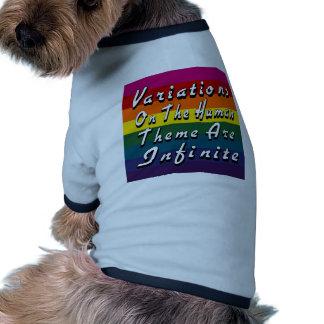 Las variaciones en el tema humano son infinitas camisa de perro