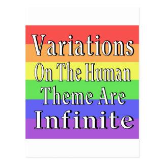 Las variaciones en el tema humano son infinitas postales