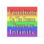 Las variaciones en el tema humano son infinitas postal