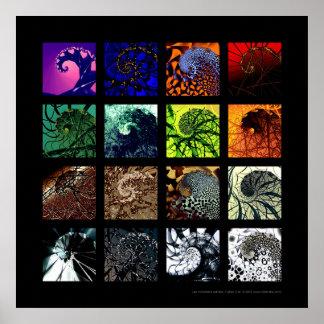 Las variaciones espirales posters