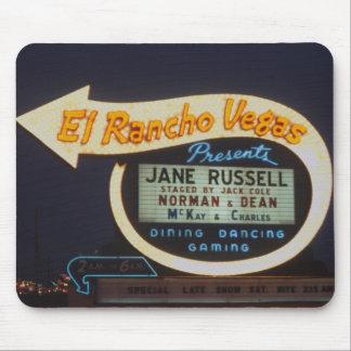 Las Vegas 1959 El Rancho Vegas Casino Neon Sign Mouse Pad