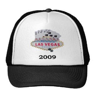 Las Vegas 2009 casquillos de juego para hombre Gorro De Camionero