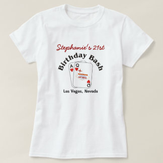 Las Vegas 21 Birthday Female T-Shirt
