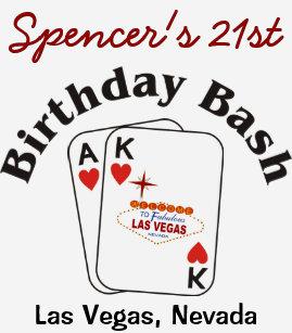 Las Vegas 21 Birthday Male T Shirt