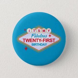 Las Vegas 21st Birthday Button