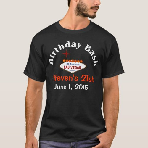 Las Vegas 21st Birthday Male T_Shirt
