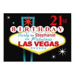 Las Vegas 21st Birthday Party Card