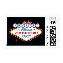 Las Vegas 21st Birthday Party Postage
