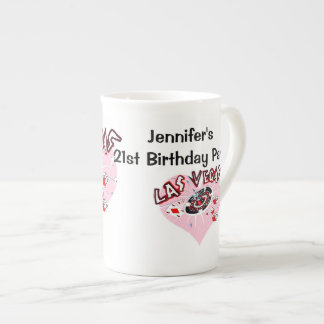 Las Vegas 21st Birthday Party Porcelain Mugs