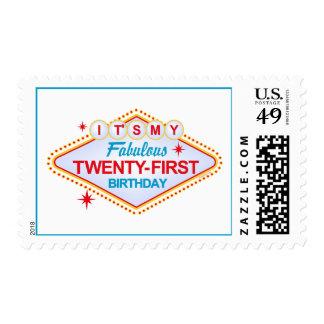 Las Vegas 21st Birthday Postage Stamp