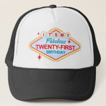 Las Vegas 21st Birthday Trucker Hat