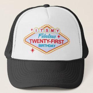Las Vegas 21st Birthday Trucker Hat