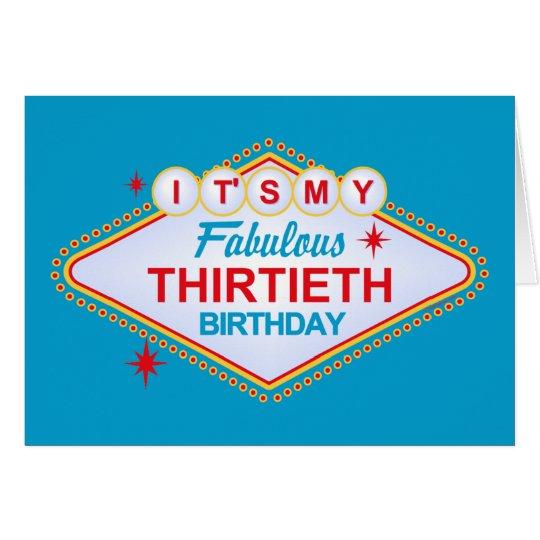 Las Vegas 30th Birthday Card