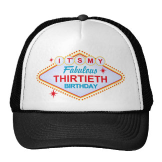 Las Vegas 30th Birthday Trucker Hat