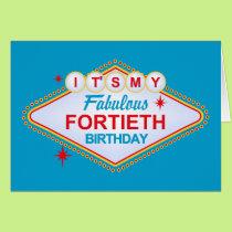 Las Vegas 40th Birthday Card