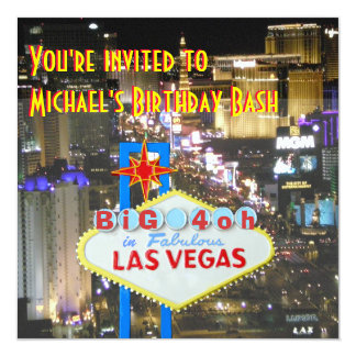 Las Vegas 40th Birthday Party personalized sign Card