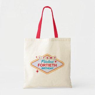 Las Vegas 40th Birthday Tote Bag