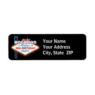 Las Vegas 50th Birthday Address Label