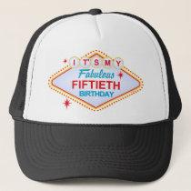 Las Vegas 50th Birthday Trucker Hat