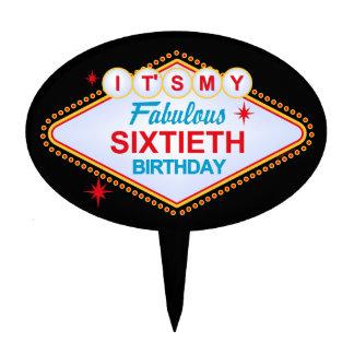 Las Vegas 60th Birthday Cake Topper