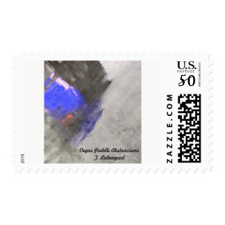 Las Vegas Abstract postal stamps