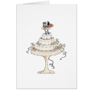 Las Vegas ADD YOUR OWN TEXT Wedding Card