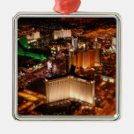 Las Vegas aerial view from a blimp Christmas Ornaments