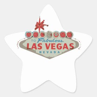 Las Vegas .ai Pegatina En Forma De Estrella