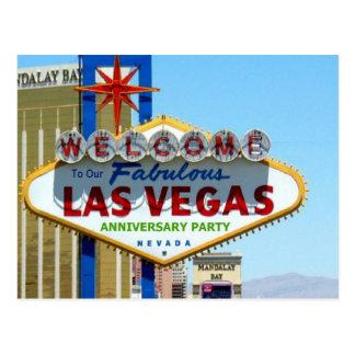 Las Vegas Anniversary Party Postcard