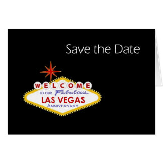 Las Vegas Anniversary Save the Date Card