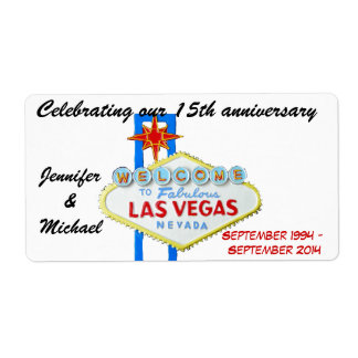 Las Vegas Anniversary Wine Labels