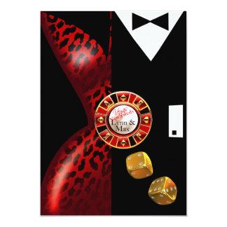 Las Vegas Art Deco Wedding Reception | red black Card
